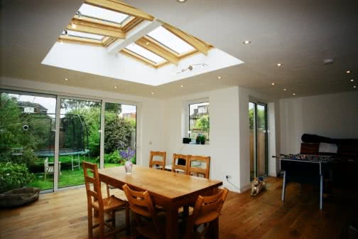 single storey extension inside